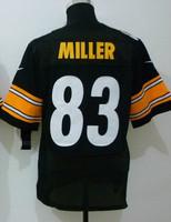 Free shipping Embroidery logos,Men's elite American Football Jerseys,Wholesale Original quality #83 Miller, Heath Size S-XXL