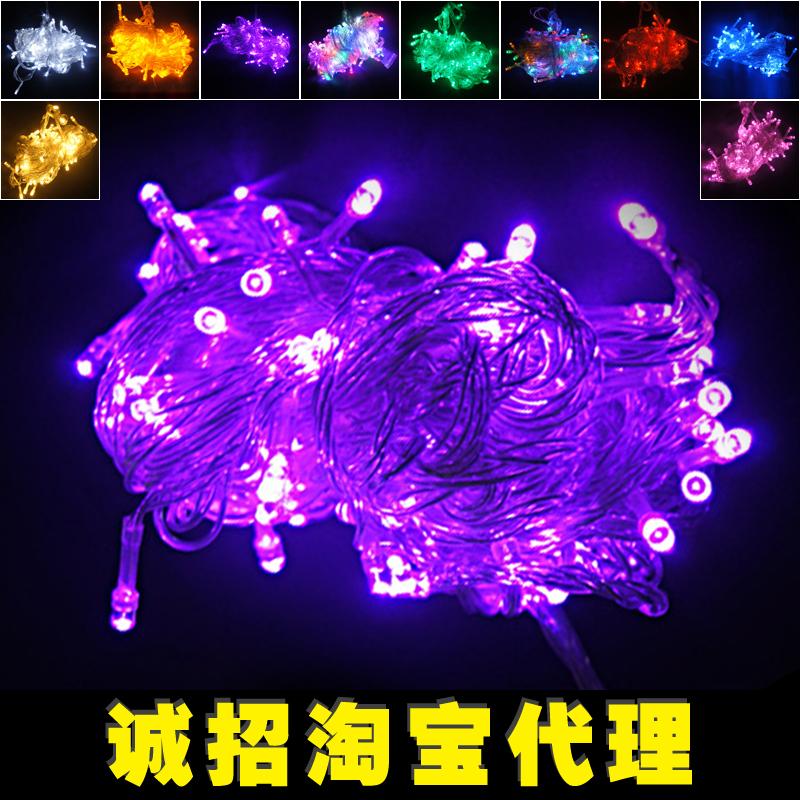 Hot Led Light Flasher Lamp set Multicolour Christmas Lighting String Decoration Outdoor Waterproof Led Lantern 10 Meter 100 Lamp(China (Mainland))