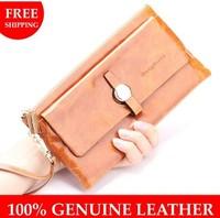 2014 new fashion Vintage multifunctional women wallet long design purse lady cowhide handbag day clutch for female wallets
