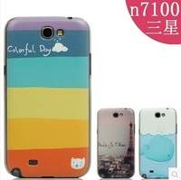 Case for SAMSUNG Galaxy Note 2 N7100 New Arrival matte coloured drawing or pattern cartoon ultra thin protective shell cover