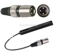Phantom Power XLR 3Pin Male Interview Microphone Shotgun Mic for ZOOM H4N Digital Recorder , Mixing console , Camera  etc.