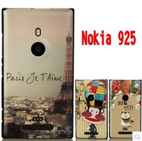 Case for nokia lumia 925 New Arrival coloured drawing or pattern cartoon black border matte ultra thin protective shell cover