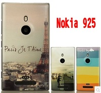 Case for nokia lumia 925 New Arrival coloured drawing or pattern cartoon ultra thin protective shell cover