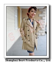 winter Autumn fashion slim double breasted medium-long women's trench outerwear top,free shipping
