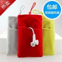 Mobile phone protection bag  for apple   iphone4 s flannelet bag cell phone pocket fabric iphone5 mobile phone case