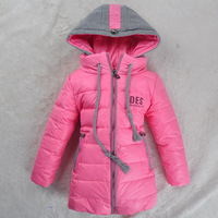 2013 new children down/parkas outerwear mitch medium-long children's winter clothing new arrival girls winter coat jacket