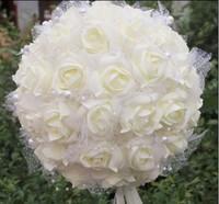 2013 Fashion Exquisite High Simulation  PE Cotton Rose Cartoon Bouquet. Festive Wedding Decorations Flower Ball Free Shipping