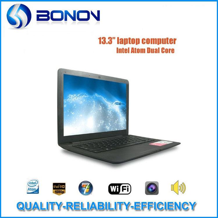 Hot!In stock 13.3 inch netbooks laptops Intel Atom D2500 windows 7/windows XP notebook computer wifi webcam 2G 250G(China (Mainland))