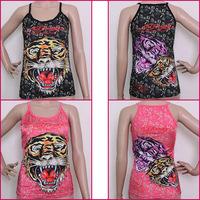 Hot Edhardy 2013 women's vest ed fashion spaghetti strap basic top  for women