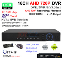 16ch Full D1 WIFI CCTV DVR Recorder With HDMI 1080P Output,16ch Hybrid DVR NVR ONVIF Video Security DVR Recorder,HI3521 chip
