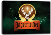 scrb379 Jagermeister Deer Beer Bar Stretched Canvas Print Decor Sign Wholesale Dropshipping