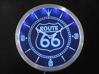 nc0315-b Route 66 Bar Beer Neon Sign LED Wall Clock Wholesale Dropshipping