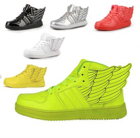 Free Shipping 2013 New Fashion Girls Boots Angel Wings Flats Ladies Brand Running Shoes Sneakers For Womens NYD1002