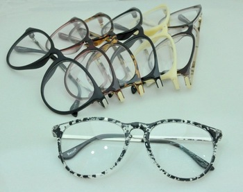 Factory direct sale Metal Legs Round Oversize Clear Lenses Frame Glasses Wholesale Fashion Safety Radiation Unisex Spectacles