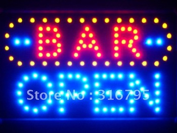 led072-b BAR OPEN LED Neon Sign WhiteBoard Wholesale Dropshipping