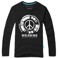 Free shipping!voimale Metal Gear / Metal Gear Solid creative fashion printed cotton long-sleeved T-shirt tide male