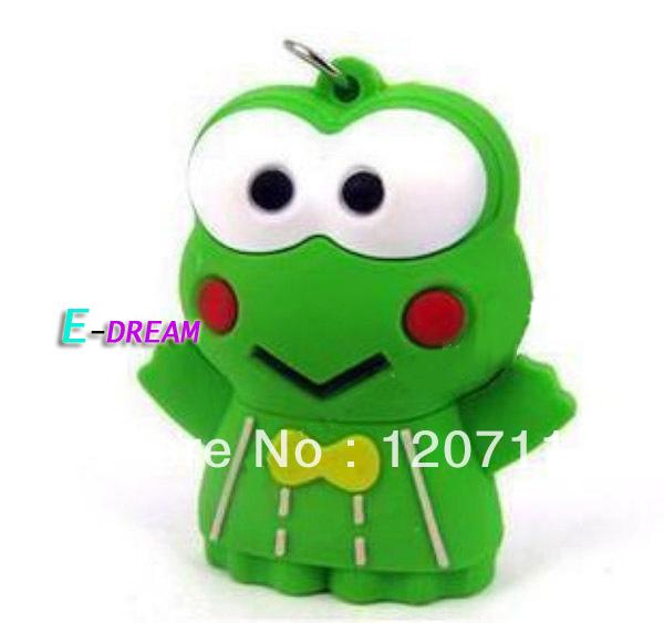 E-DREAM 4-32GB Free shipping Wholesale cheap Cartoon mini The frog prince USB Flash Drive Car Pen drive Personality Gift(China (Mainland))