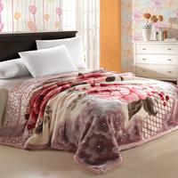 floral raschel blanket ,   raschel blanket thickening double layer super soft  blanket