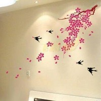 Free Shipping Wholesale and Retail Flowers Wall Stickers Wall Decal Wall Covering Home Decoration F6016
