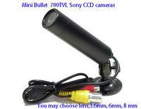 Mini Bullet 700 TVL Sony Effio CCD Color Night Camera PAL NTSC CCTV Security