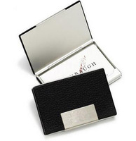 Wholesale 20PCS PU Leather Aluminium Card Holder &  Credit ID Box Keeper  Case - Free Shipping