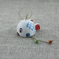 Jingdezhen ceramic japanese style windbags hangings door trim cartoon small fish hanging