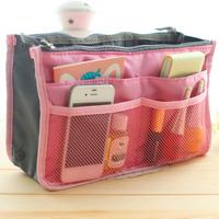 2014 Hot Sell Large Dual Organizer Mp3 Phone Cosmetic Book Storage Nylon Bag Handbag Purse 12 Colors