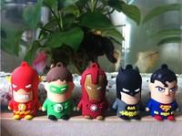 New 10pcs/lot cartoon heros usb 2.0 memory flash stick thumb pen drive  free shipping