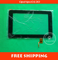 free shipping 7 inch touch screen digitizer for tablet capacitive 0pd-tpc0130  opd-tpc0130