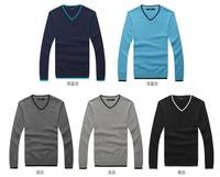 Korean V neck slim fitting Sweaters men clothes Fashion