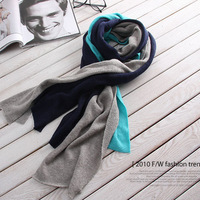 WJ011 Korean version of the new winter warm couple Lee Hyori three-color stitching long wide shawl scarves wholesale