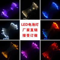 Led lights flasher battery lighting string flicker garden lights string light wedding decoration 5M 50lamp