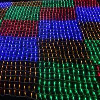 Led net lights christmas lighting string decoration supplies curtain lights 1.5m *1.5m  96les