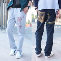 Free shipping         2013 ! fashion color block print cotton wei pants men's clothing sports pants