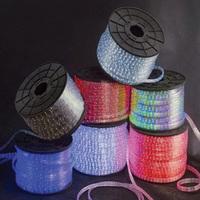 Led flat 3- wire colorful led neon light led rainbow tube 220v