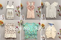 Mix Styles 20Pcs/Lot Women Fashion Shirt Lady Top Wholesale