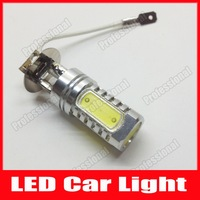 Free shipping new 2pcs/lot H3 8W 450-500LM White Light LED Bulb for Car Fog Lamp (DC 12V)