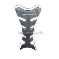 Black Carbon Fiber New Motorcycle Tank Pad Sticker H1E1