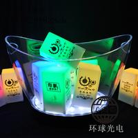 12l large ingot ice-pail colorful led light emitting charge large ice bucket beerbarrel champagne bucket