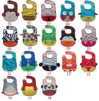 Free Shipping,3pcs/lot,Baby Bibs Cartoon Waterproof Infant saliva towels Bibs Baby Wear