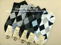 2013New 1lot=10paris Good quality cotton argyle autumn-summer brand sports men's socks warm socks men YX063