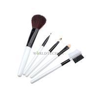 W7Tn 5 pcs Cosmetic Make Up Makeup Brush Set Case White