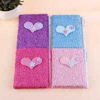 Small fresh diary book love velvet flower small notebook tsmip girl