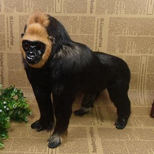 Big black orangutan wild animal model baby toy home decoration gift