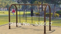 two seats garden swing set for children and adults
