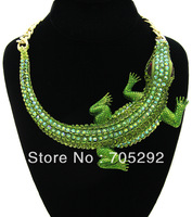 Huge Fashion Crocodile Pendants Chunky Statement Necklace Free Shipping
