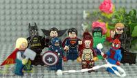 2013 Super Heroes Toys Mini Figures Iron man Model Action Figures Toy 9pcs Heroes Figures Without Original Box Free Shipping