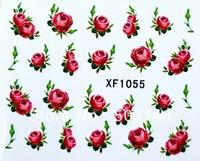 2D flower nail art sticker, water transfer nail sticker