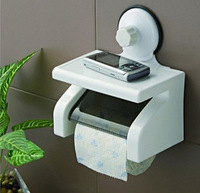 Super suction cup bathroom shelf waterproof roll holder bathroom wall suction tissue box toilet paper towel holder