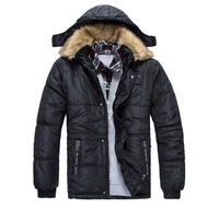 Free shipping 2013 winter NEW brand men's thicken hooded cotton sports coat fashion keep warm cotton-padded jacket